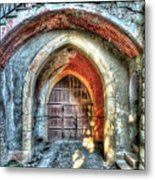 The Castle Door - La Porta Del Castello Metal Print