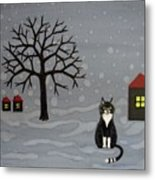 The Cat Is Waiting  Metal Print