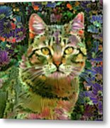 The Cat Who Loved Flowers 1 Metal Print