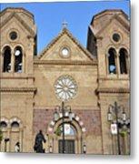 The Cathedral Basilica Of St. Francis Of Assisi, Santa Fe, New M Metal Print