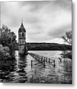 The Cathedral Of Fish Bw Metal Print