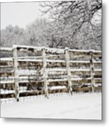 The Cattle Pens Metal Print