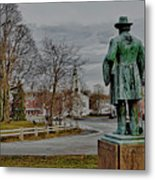 The Center Of Grafton Ma Metal Print
