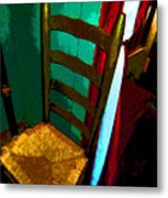 The Chair Metal Print by Mindy Newman