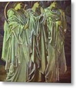 The Challenge In The Wilderness 1898 Metal Print