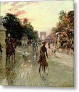 The Champs Elysees - Paris Metal Print by Georges Stein
