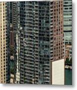 The Chandler Condominiums Building Chicago Aerial Metal Print
