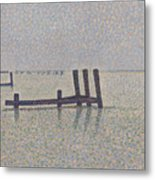 The Channel At Nieuport Metal Print