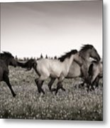 The Chase 1 Copper Metal Print