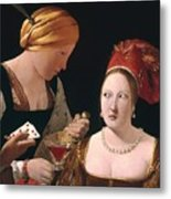 The Cheat With The Ace Of Diamonds Metal Print