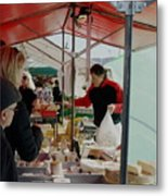The Cheese Vender Metal Print