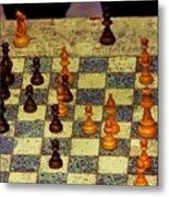 The Chess Game, New York City C. 1977 Metal Print