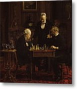 The Chess Players Metal Print