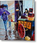The Chestnut Seller Metal Print