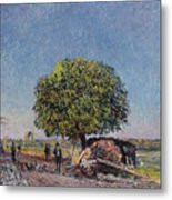 The Chestnut Tree At Saint-mammes Metal Print
