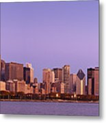 The Chicago Skyline At Sunrise Metal Print