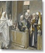 The Chief Priests Ask Jesus By What Right Does He Act In This Way Metal Print