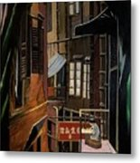 The Chinese Painter Metal Print