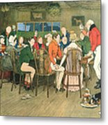 The Christmas Dinner At The Inn Metal Print