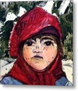 The Christmas Dreamer Metal Print by Mindy Newman