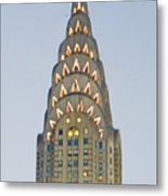 The Chrysler At Dusk Metal Print