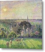 The Church And Farm Of Eragny Metal Print