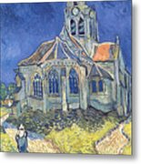 The Church At Auvers Sur Oise Metal Print by Vincent Van Gogh