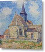 The Church At Porte-joie On The Eure Metal Print