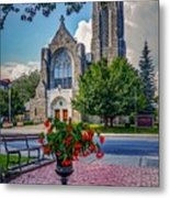The church in summer Metal Print
