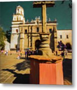 The Church Of San Juan Bautista Of Coyoacan 2  Metal Print