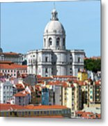 The Church Of Santa Engracia And Rooftops -- Lisbon Metal Print