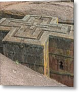 The Church Of St. George In Lalibela, Ethiopia Metal Print