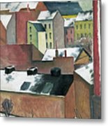The Church Of St Mary In Bonn In Snow Metal Print