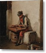 The Cimbalom Player Metal Print