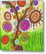 The Circle Tree Metal Print