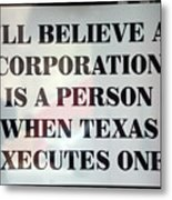 The Citizens United Case Was A Disaster For Our Secular Pluralistic Republic. Metal Print