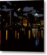 The City Dark Metal Print