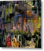The City Garden Metal Print