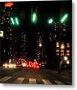 The City In A Rush Metal Print