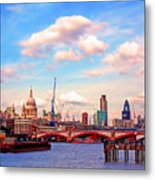 The City Of London By Day Metal Print