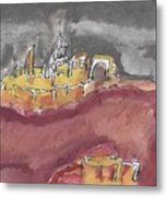 The City Of Nineveh With Stormfront Metal Print