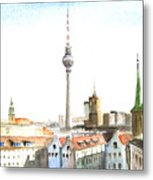 The Cityscape Of Berlin Metal Print