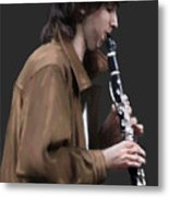 The Clarinet Player Metal Print