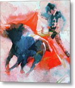 The Clash Of Power And Will Metal Print