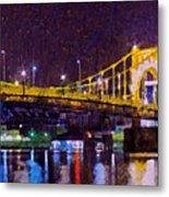 The Clemente Bridge Heading To The Northshore Metal Print