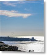 The Cliffs, Ocean And Sky At La Jolla, California Metal Print