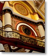 The Clock In The Union Station Nashville Metal Print