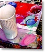 Mug And Palatte Metal Print