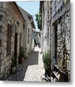 The Cobbled Back Streets Surrounding Old Marmaris Metal Print