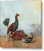 The Cock Fight Metal Print
